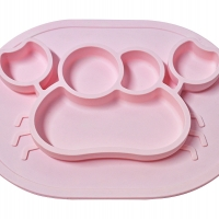 CRAB SHAPED SILICONE BABY PLATE